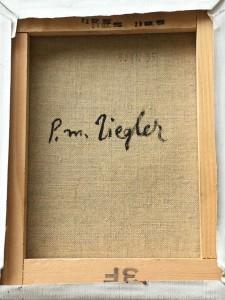 Signature toile Pierre-Marie Ziegler